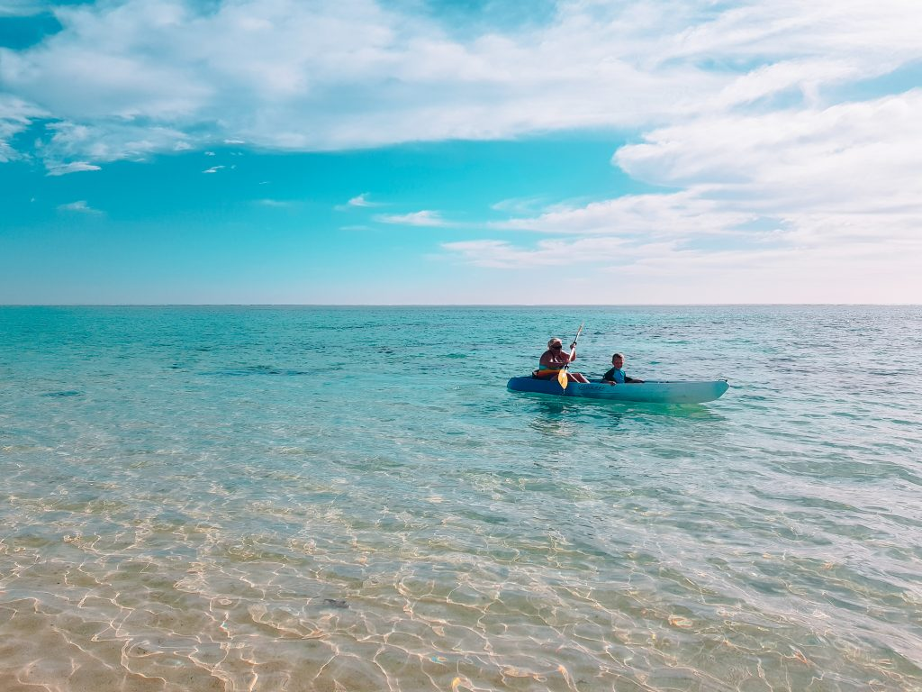Kayaking at Cape Range National Park